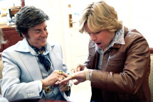 Michael Douglas (Liberace) en Matt Damon (Scott Thorson) in Behind the Candelabra