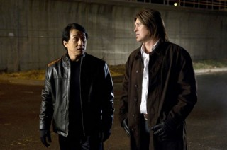 Jackie Chan en Billy Ray Cyrus in The Spy Next Door