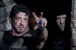 Sylvester Stallone en Jason Statham in The Expendables