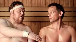 Fabian Jansen (Niels) en Barry Atsma (Dennis) in Mannenharten