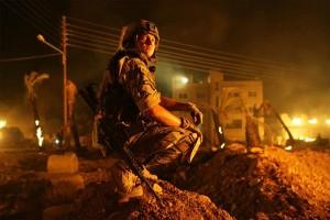 Jeremy Renner (Staff Sergeant William James) in The Hurt Locker