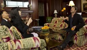 Hiromi Tojo, Wendy Van Dijk (Ushi) en Patrick Dempsey (Zichzelf) in Ushi Must Marry