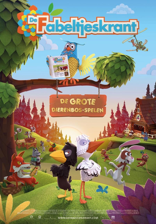 De poster van De Fabeltjeskrant & De Grote Dierenbos-spelen