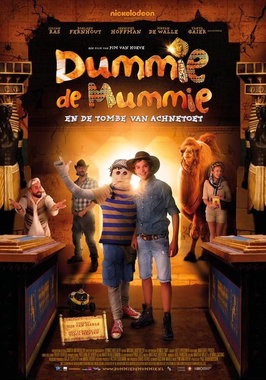 De poster van Dummie de Mummie en de tombe van Achnetoet