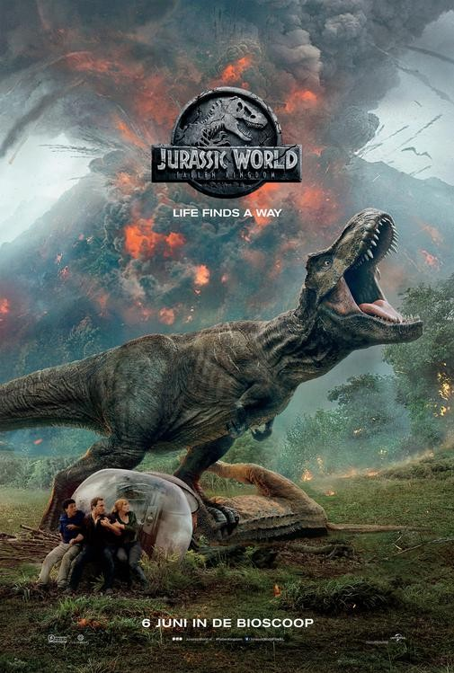 De poster van Jurassic World: Fallen Kingdom