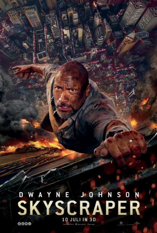 De poster van Skyscraper