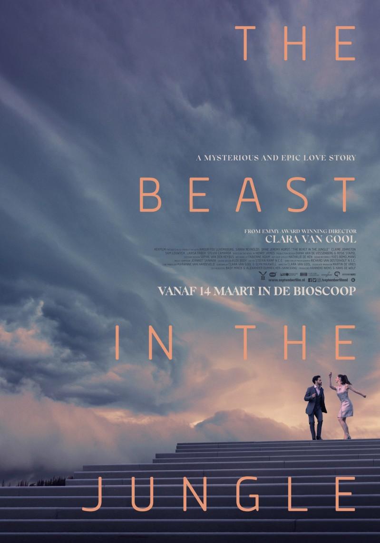 De poster van The Beast in the Jungle