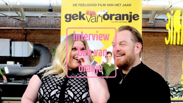 Interview cast Gek van oranje, 17-2-2018