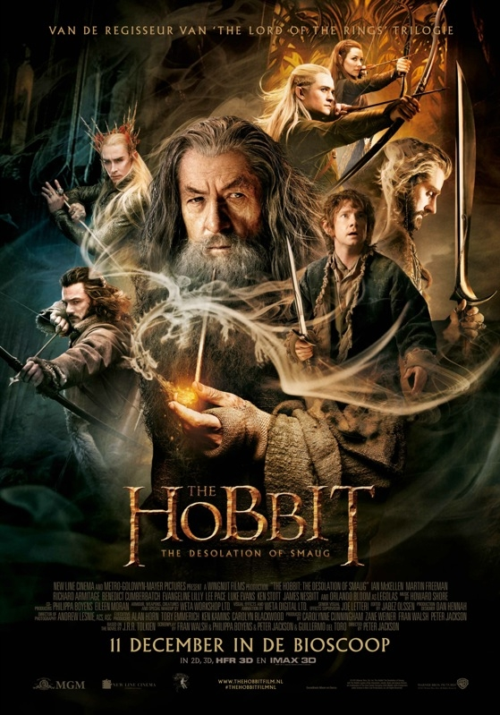 The Hobbit: The Desolation of Smaug poster, © 2013 Warner Bros.