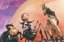 James en zijn vrienden in 'James en de Reuzenperzik' (c) 1996 Walt Disney