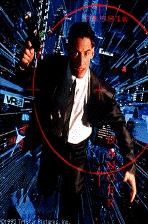 Keanu Reeves als de mnemonische koerier met heel veel megabytes in zijn hoofd (c) Hollywood Pictures