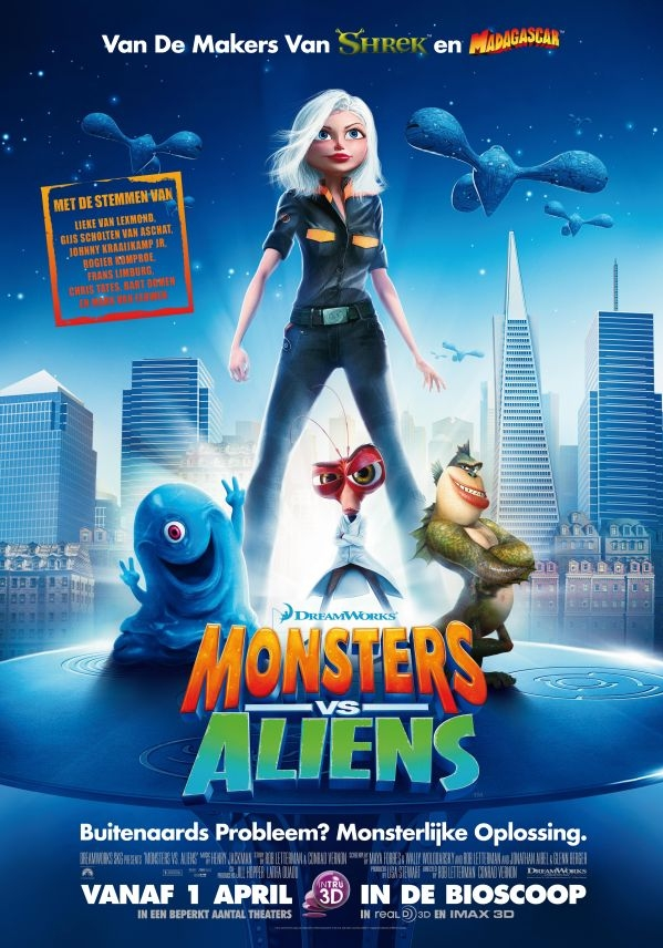 Poster Monsters vs. Aliens (c) Universal Pictures