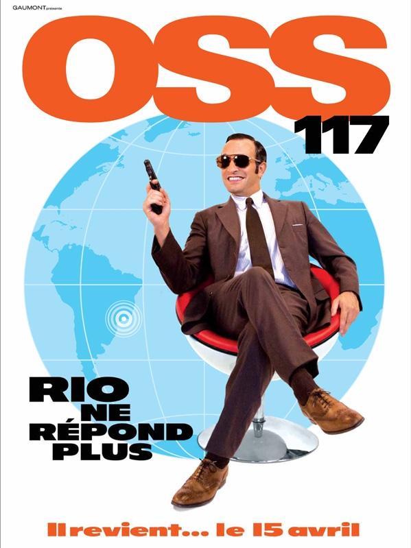 Poster OSS 117: Rio ne répond plus