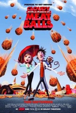 Cloudy with a Chance of Meatballs poster, copyright in handen van productiestudio en/of distributeur