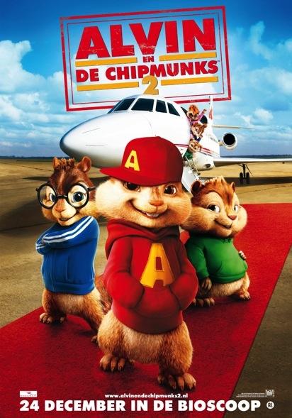 Alvin and the Chipmunks: The Squeakquel poster, copyright in handen van productiestudio en/of distributeur