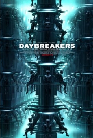 Daybreakers poster, © 2009 Benelux Film Distributors