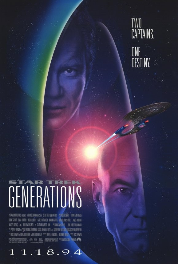 Star Trek VII: Generations poster, copyright in handen van productiestudio en/of distributeur