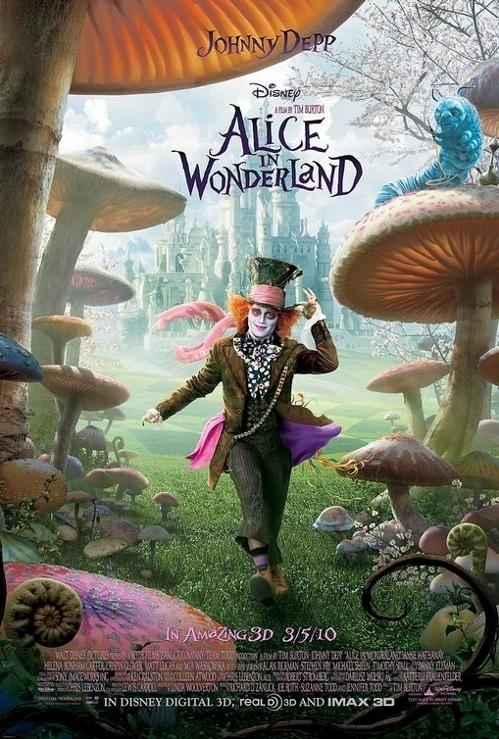 Alice in Wonderland (2010) poster, copyright in handen van productiestudio en/of distributeur
