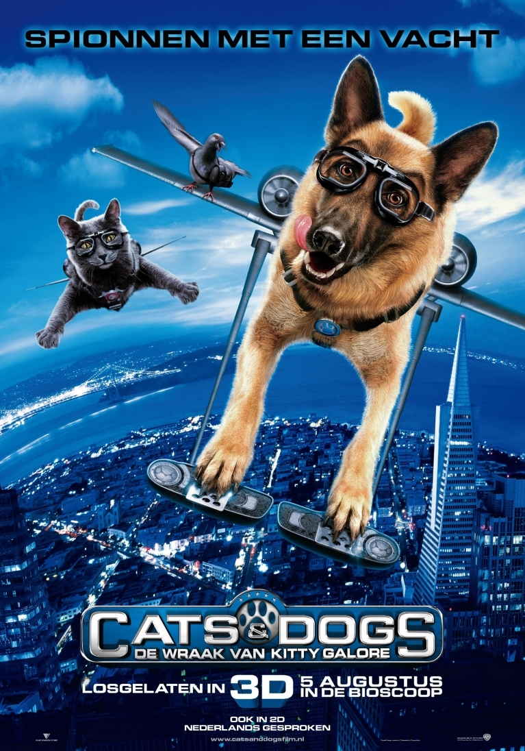 Cats & Dogs: The Revenge of Kitty Galore poster, © 2010 Warner Bros.
