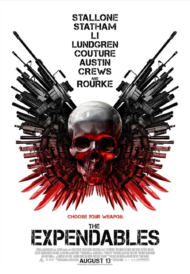 The Expendables poster, © 2010 Benelux Film Distributors