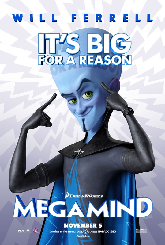 Megamind poster, © 2010 Universal Pictures International