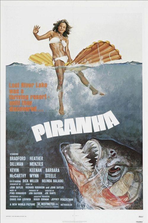 Piranha poster, copyright in handen van productiestudio en/of distributeur