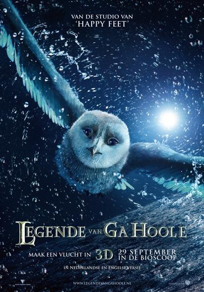 Legend of the Guardians (NL) poster, © 2010 Warner Bros.