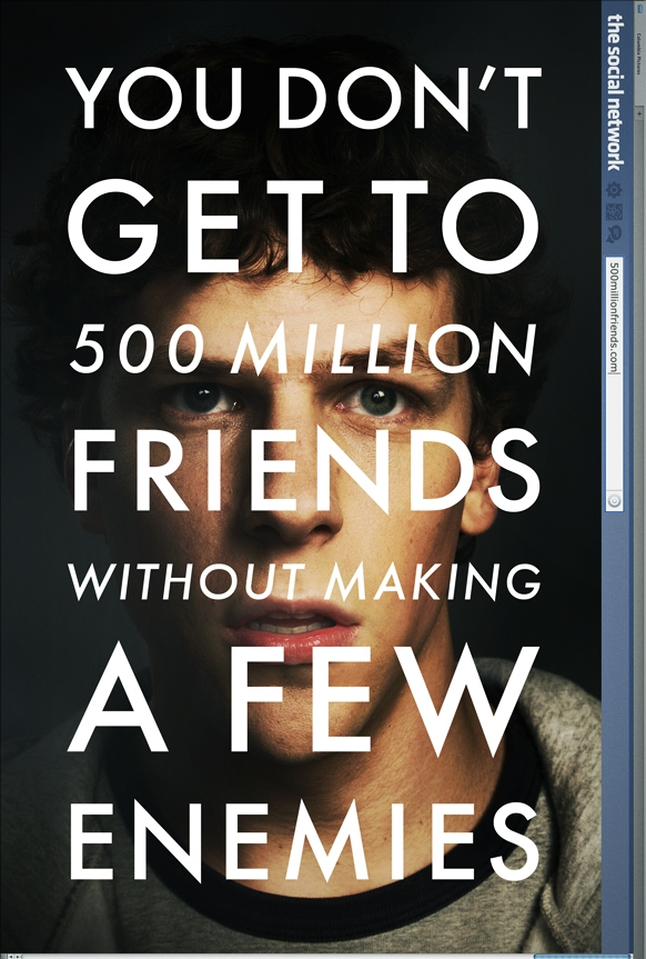 The Social Network poster, © 2010 Sony Pictures Releasing