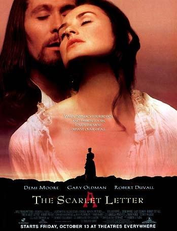 The Scarlet Letter poster, copyright in handen van productiestudio en/of distributeur