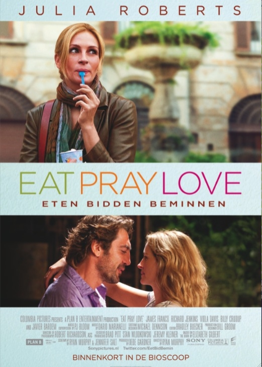 Eat, Pray, Love poster, © 2010 Sony Pictures Releasing