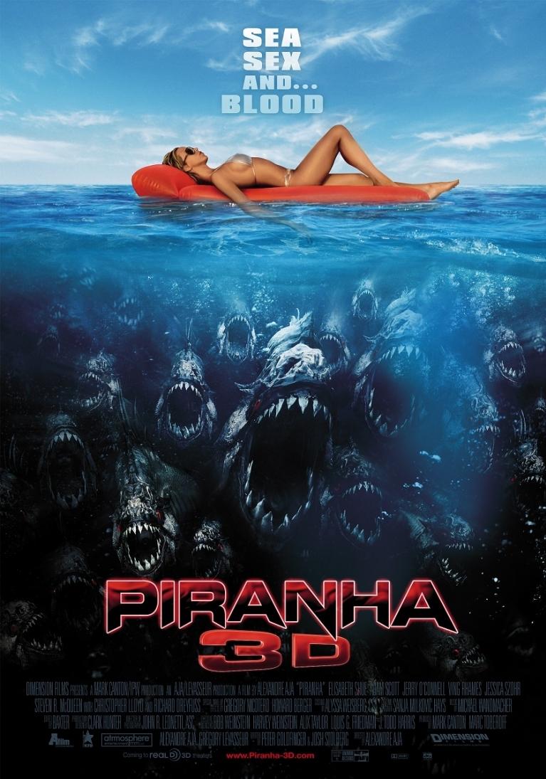 Piranha 3D poster, © 2010 A-Film Entertainment