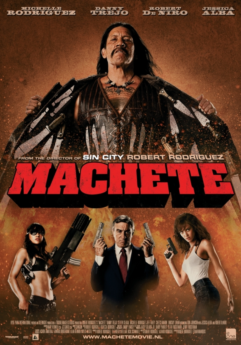 Machete poster, © 2010 E1 Entertainment Benelux