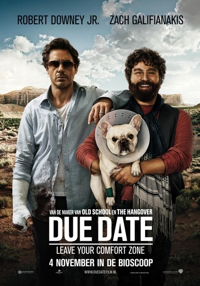 Due Date poster, © 2010 Warner Bros.