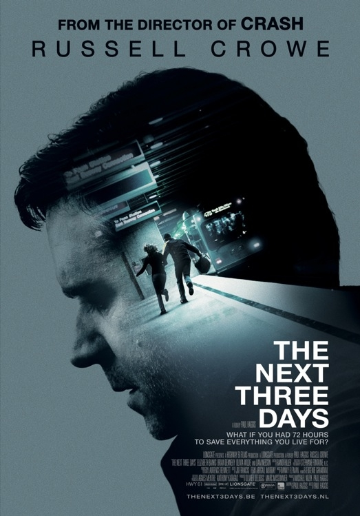 The Next Three Days poster, © 2010 E1 Entertainment Benelux