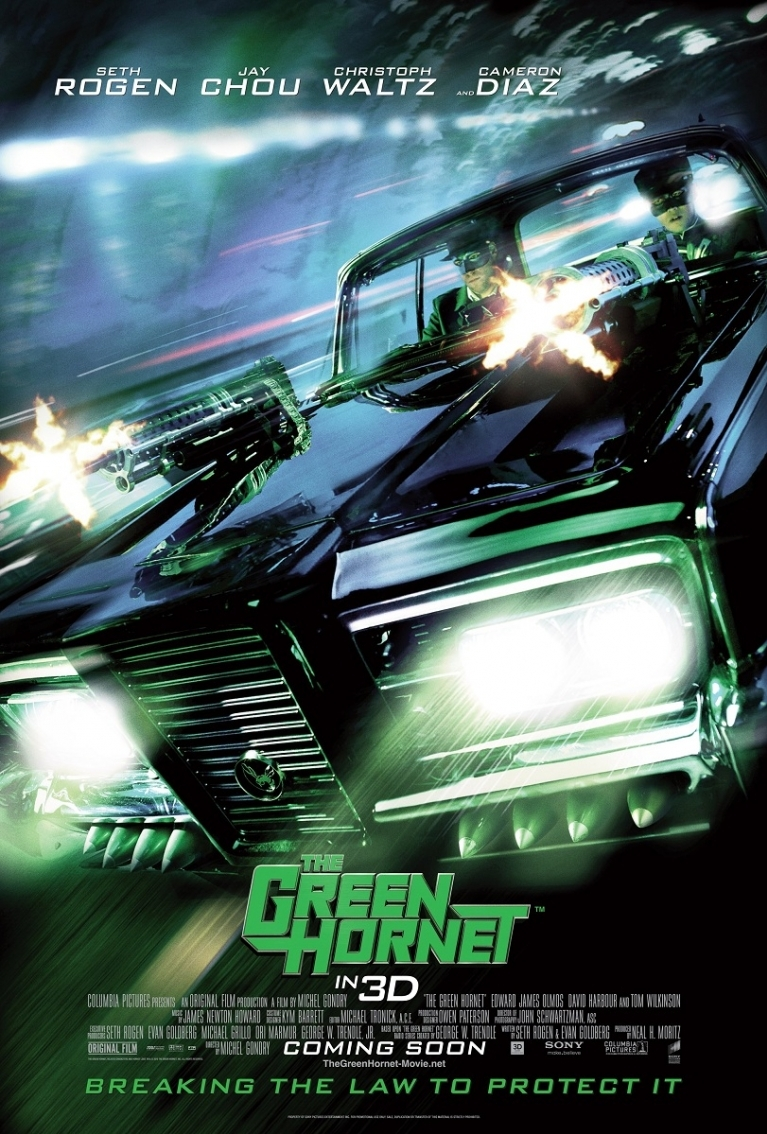 The Green Hornet poster, © 2011 Sony Pictures Releasing