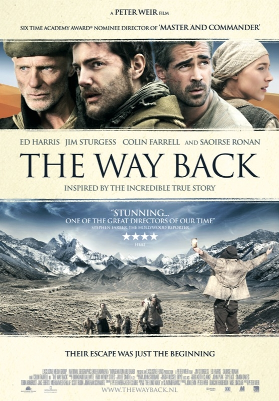 The Way Back poster, © 2010 E1 Entertainment Benelux