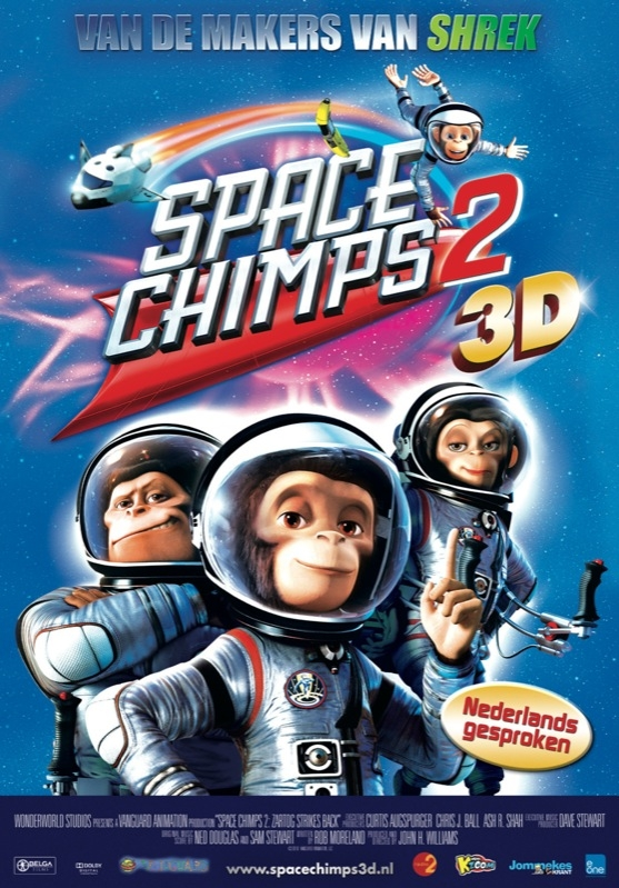 Space Chimps 2: Zartog Strikes Back poster, © 2010 E1 Entertainment Benelux