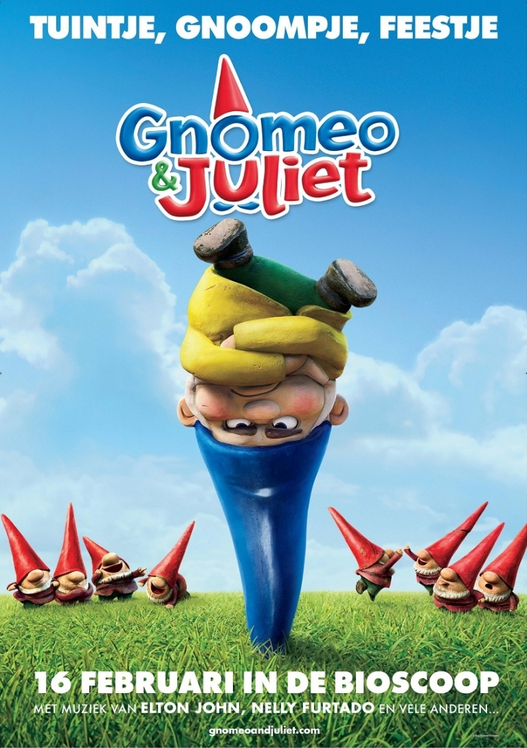 Gnomeo and Juliet poster, © 2011 Walt Disney Pictures