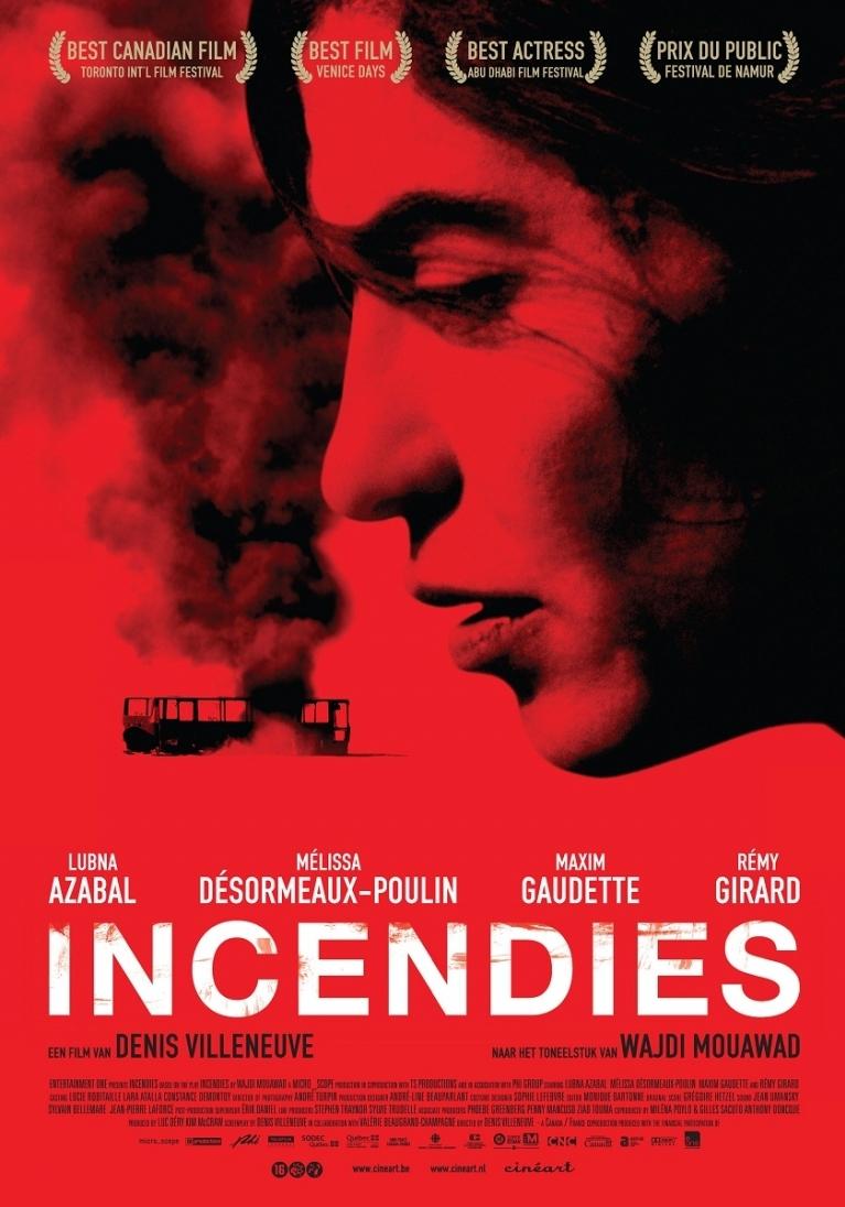Incendies poster, © 2010 Cinéart