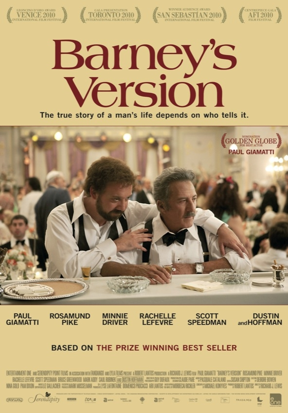 Barney's Version poster, © 2010 E1 Entertainment Benelux