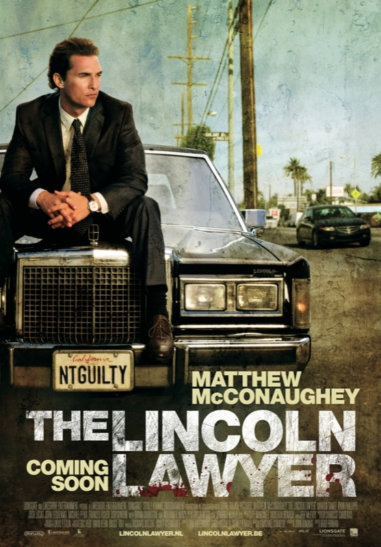 The Lincoln Lawyer poster, © 2011 E1 Entertainment Benelux