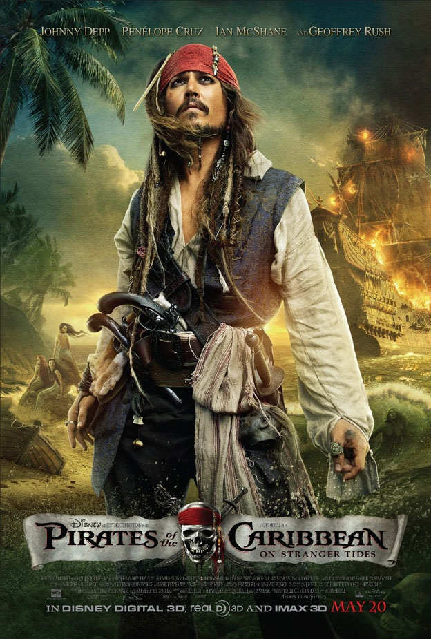 Pirates of the Caribbean: On Stranger Tides poster, © 2011 Walt Disney Pictures