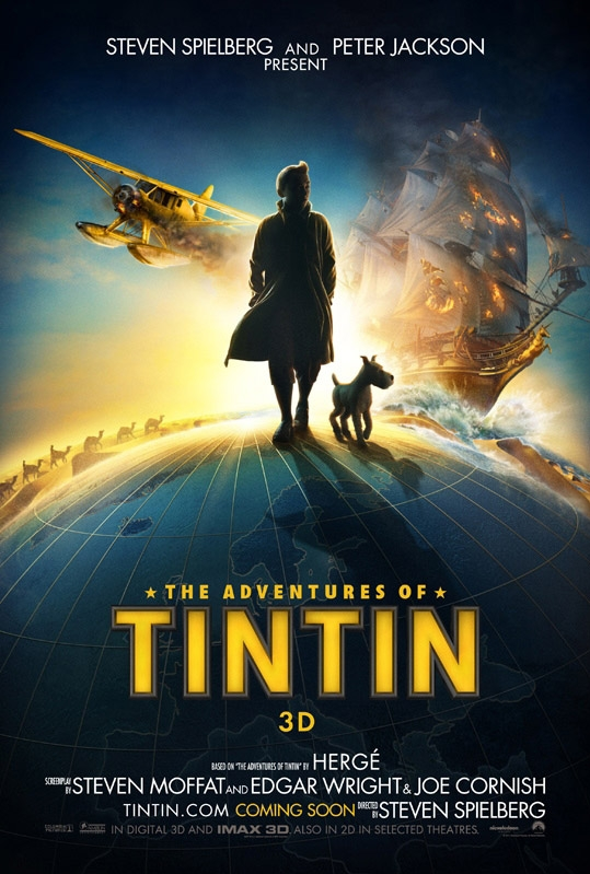 The Adventures of Tintin: Secret of the Unicorn poster, © 2011 Sony Pictures Releasing