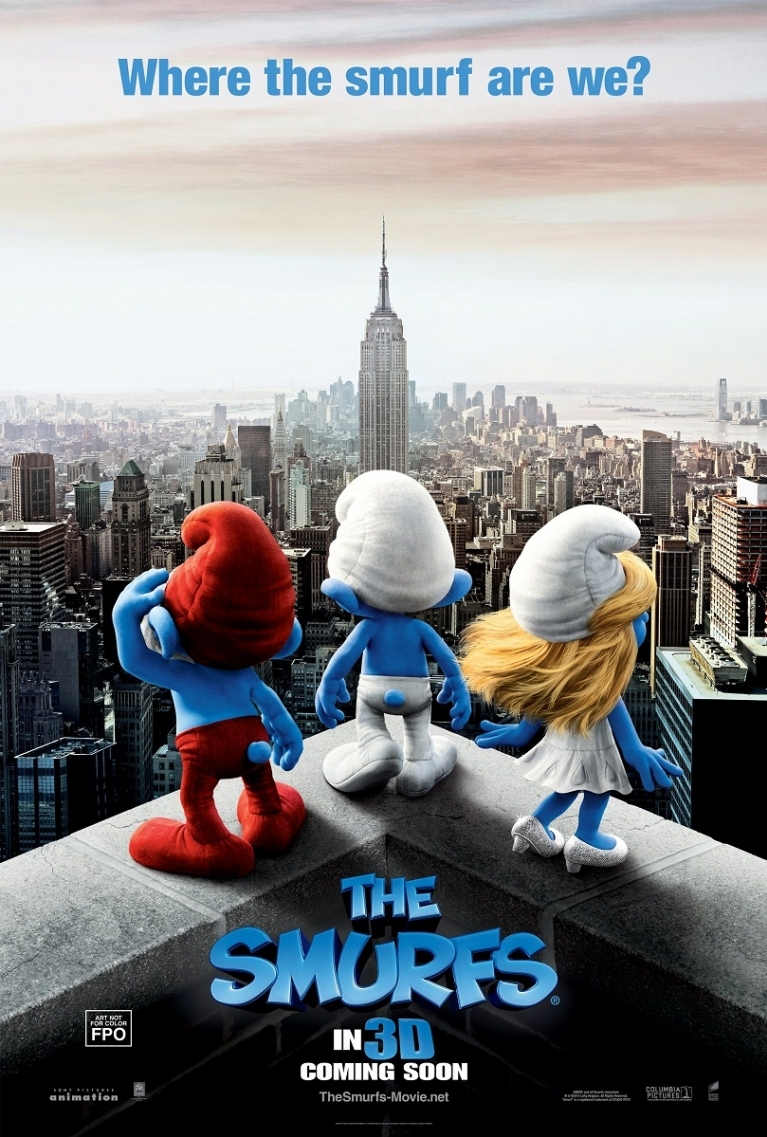 The Smurfs poster, © 2011 Sony Pictures Releasing