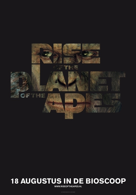 Rise of the Planet of the Apes poster, © 2011 20th Century Fox