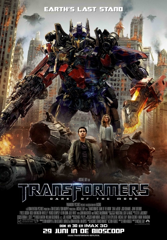 Transformers: Dark of the Moon poster, © 2011 Universal Pictures International