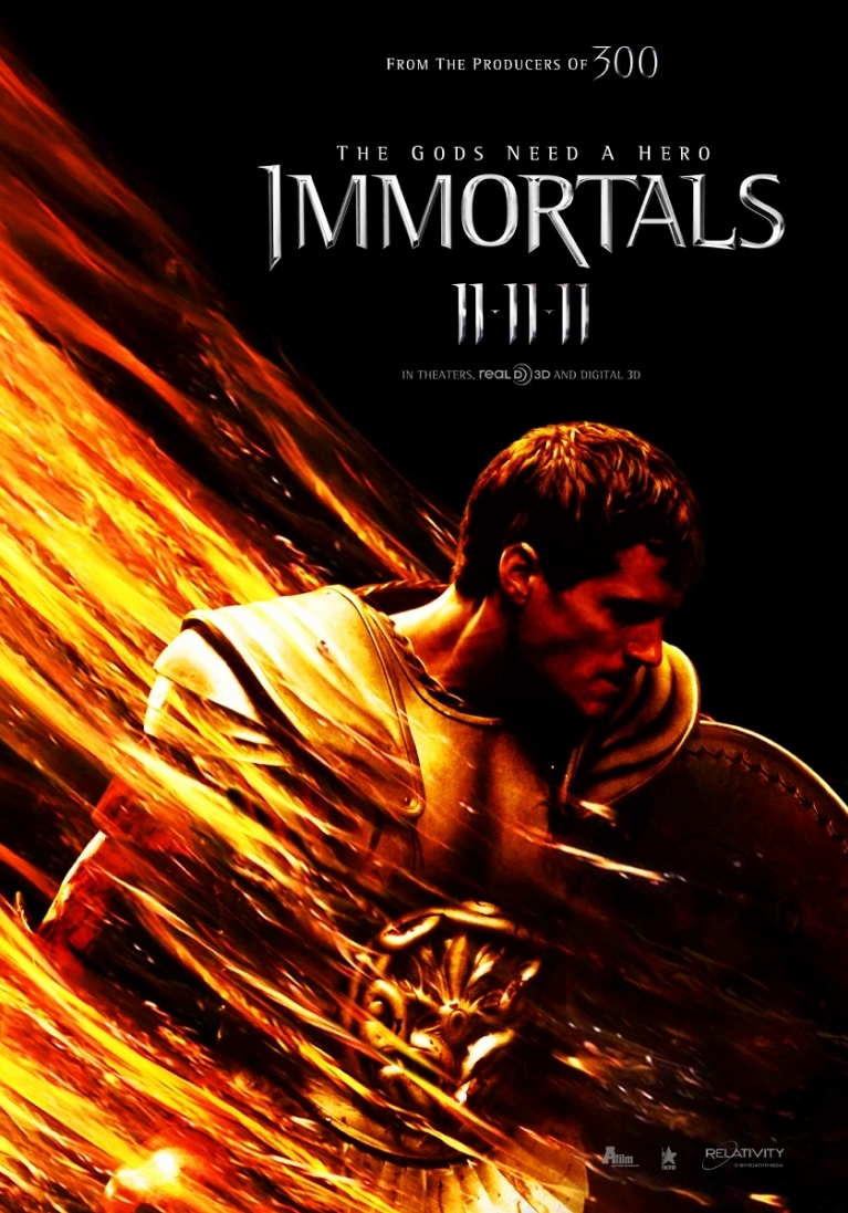 Immortals poster, © 2011 A-Film Distribution