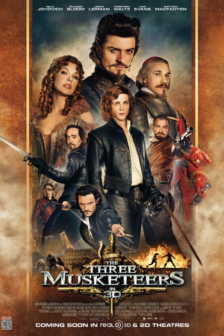 The Three Musketeers poster, © 2011 Benelux Film Distributors