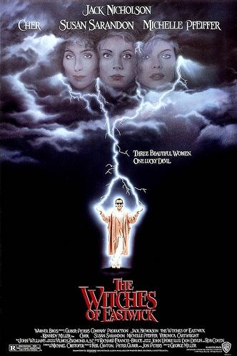 The Witches of Eastwick poster, copyright in handen van productiestudio en/of distributeur