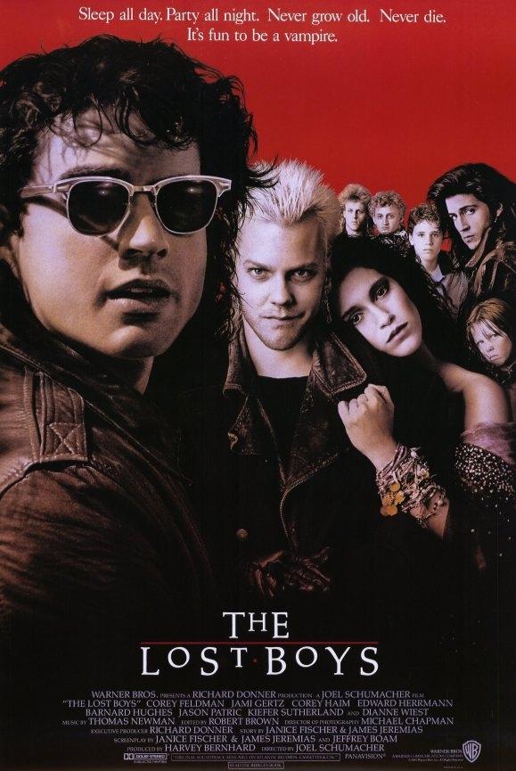 The Lost Boys poster, copyright in handen van productiestudio en/of distributeur